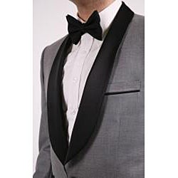 Ferrecci Men's Single-button Shawl-collar Grey Tuxedo