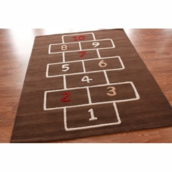 nuLOOM Handmade Kids Hopscotch New Zealand Wool Rug (3'6 x 5'6)