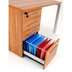 Jesper Office Applewood Work Desk with Drawers