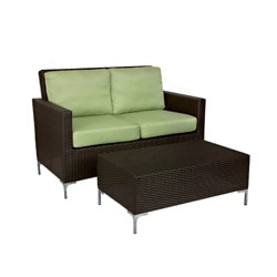 angelo:HOME Napa Springs Bamboo Green 4 Piece Indoor/Outdoor Wicker Furniture Set