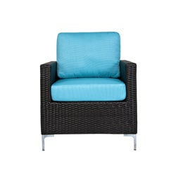 angelo:HOME Napa Springs Ocean Blue 4 Piece Indoor/Outdoor Wicker Furniture Set