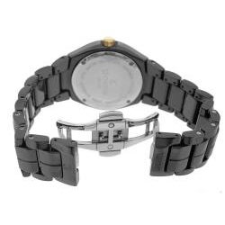 Le Chateau Women's All Ceramic Persida Watch with Zirconia Studded Bezel