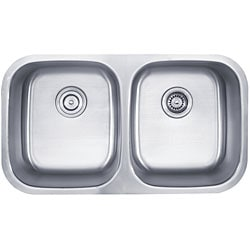 Kraus 32 inch Undermount 50/50 Double Bowl 18 gauge Stainless Steel Kitchen Sink