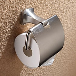 Kraus Fortis Bathroom Accessories - Tissue Holder with Cover Brushed Nickel