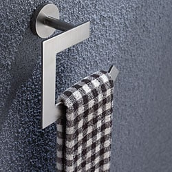 Kraus Imperium Bathroom Accessories - Tissue Holder without Cover Brushed Nickel