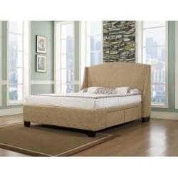 Oxford-X 4-Drawer Queen-size Almond Storage Bed