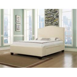 Venice-X Wheat Fabric 4-Drawer Cal King-size Storage Bed