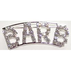 Detti Originals Silvertone 'Barb' Crystal Name Pin