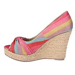 Refresh by Beston Women's 'Valerie' Fuchsia Peep-toe Espadrille Wedge Pumps