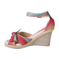 Refresh by Beston Women's 'Rosy' Fuchsia Espadrille Wedge Sandals