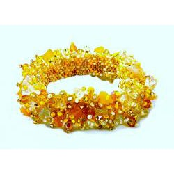 Amber and Crystal 'Sun' Capullo Bracelet (Guatemala)