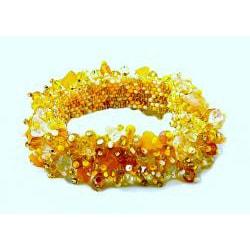 Amber and Crystal 'Sun' Capullo Bracelet (Guatemala)