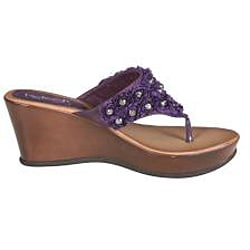 Refresh by Beston Women's 'Summer-03' Purple Wedge Sandals