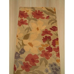 Hand-tufted Wool Ivory Josie Rug (2'6 x 8')