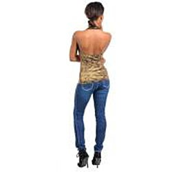 Stanzino Women's Gold Back-less Halter Top