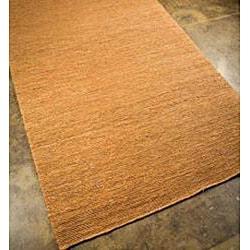 Hand-woven Hemp Gold Area Rug (8' x 10')