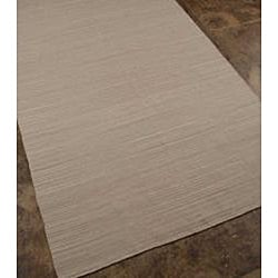 Flat Weave Solid Ashwood Wool Rug (8' x 10')