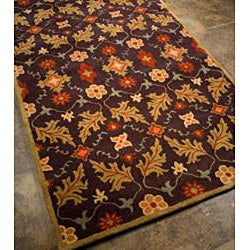 Hand-tufted Coffee Wool Rug (8' x 11')