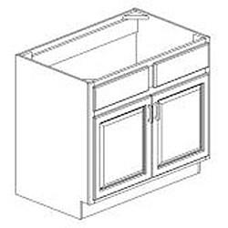 Rich Cherry Sink Base 39-inch Cabinet