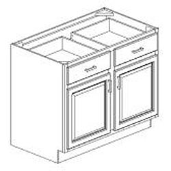 Honey Stain/Chocolate Glaze 42-inch Base Kitchen Cabinet ...
