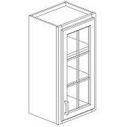 Atlanta 30 x 15 in. Maple Wood Wall Mullion Door Cabinet