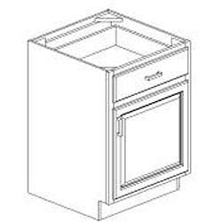 Base Antique White 24 x 34.5 in. Cabinet