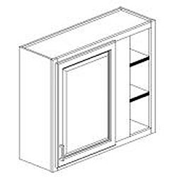 White Paint 30 x 36 in. Wide Wall Blind Corner Cabinet
