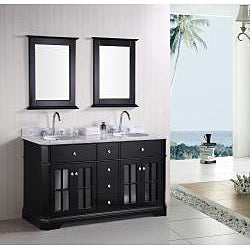 Design Element Imperial 60-inch Double Sink Bathroom Vanity Set