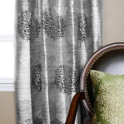 Metallic Jacquard Grommet Top 84-inch Curtain Panels