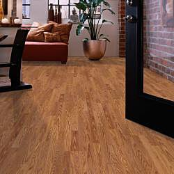 Easy Install 8mm 3-Strip Gunstock Oak Laminate Flooring (103.07 SF)