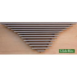 GlideRite 10-inch Solid Stainless Steel Cabinet Bar Pulls (Case of 25)