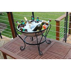 Stainless Steel 18-inch Fire Pit/ Beverage Tub