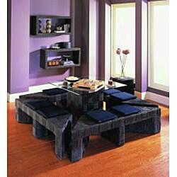 Plaid Dark Chocolate Picnic Bench