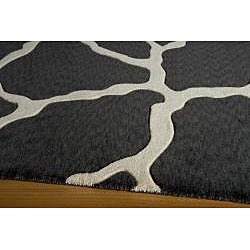 Power-Loomed Giraffe Charcoal Rug (3' x 5')