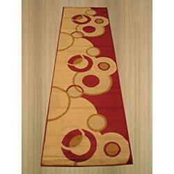 Rafa Red/ Beige Rug (2'3 x 7'3)