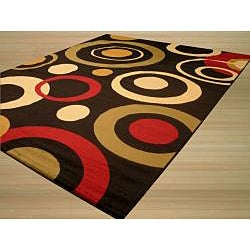 Solareve Black/ Red Rug (8'2 x 9'10)