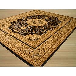Black Esfahan Rug (5'2 x 7'2)