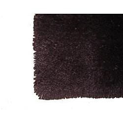 Ultra Plush Chocolate Brown Shag Rug (5'3 x 7'3)