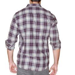 191 Unlimited Men's Purple Plaid Flannel Shirt