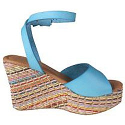 Refresh by Beston Women's 'cameron-01' Blue Wedge Sandals