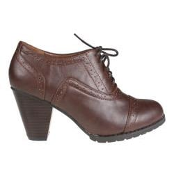 Refresh Women's 'yoyo-01' Brown Oxford Ankle Booties