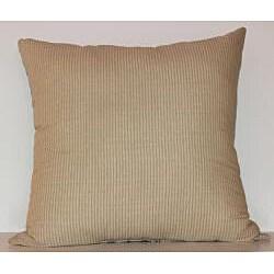 Garden Pleasure Robin's Egg Blue / Taupe Toile Decorative Pillow