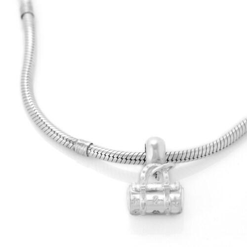 Chuvora High-polish Sterling Silver Decorative Handbag Charm Bead