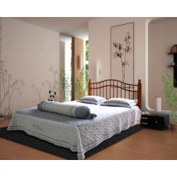 Vifah Queen Pine Wood Spindle Headboard and Frame Set