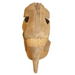 Bucco Women's Basket Weave Peep Toe Pumps