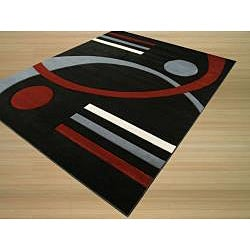 Zak Black/ Red Rug (5'3 x 7'7)