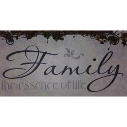Vinyl Letter Decor 'Family; The Essence of Life