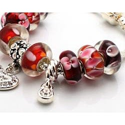 Truly In Love Collection: Red Edition Charm Bracelet