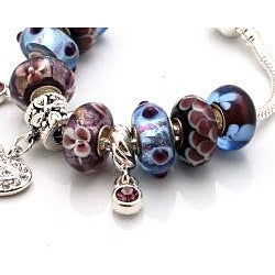 'Truly In Love' Collection: Purple Edition Charm Bracelet