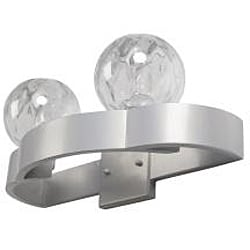 Varaluz Covenant Clear Iridescent Glass 2-light Bathroom Fixture